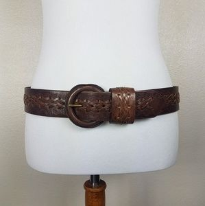 Banana Republic Brown Leather Belt Small Embossed
